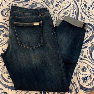 WHBM cropped jeans size 12